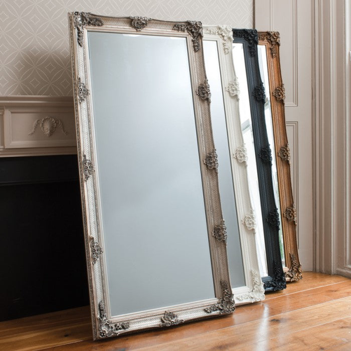 Abbey Leaner Full Length Silver Mirror
