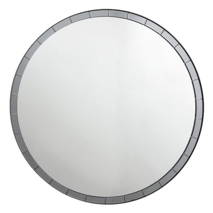 Abria Art Deco Round Wall Mirror