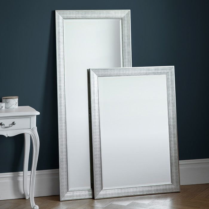 Ainsworth Silver Rectangular Bevelled Glass Wall Mirror