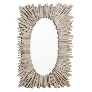 Aledo Antique Silver Rectangular Wall Mirror-Rectangle Mirror-Chic Concept