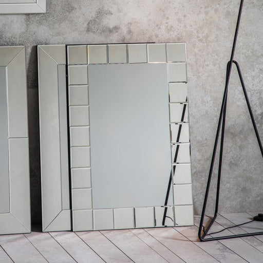 Alfredo Art Deco Rectangular Wall Mirror - 90 cm x 60 cm