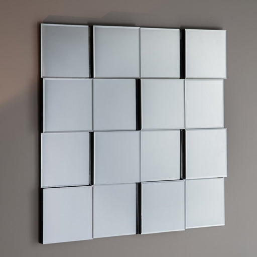 Allenby Square Art Deco Bevelled Glass Panels Wall Mirror