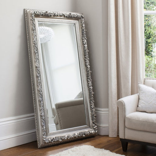 Antwerp Silver Rectangular Leaner Mirror