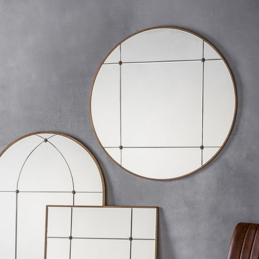 Antique Ariah Round Wall Mirror