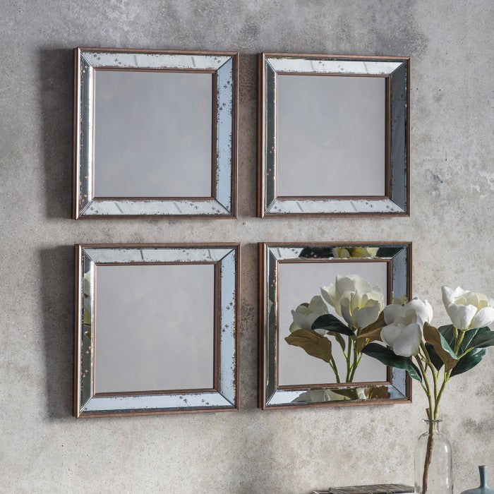 Bambra Square Wall Mirror (4 Pack)
