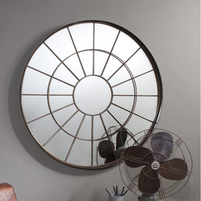 Battersea Metal Frame Round Wall Mirror