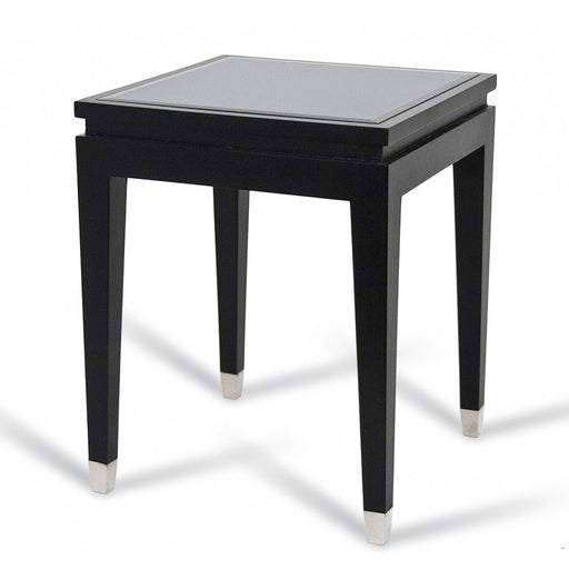 Black Mirrored Side/Lamp Table