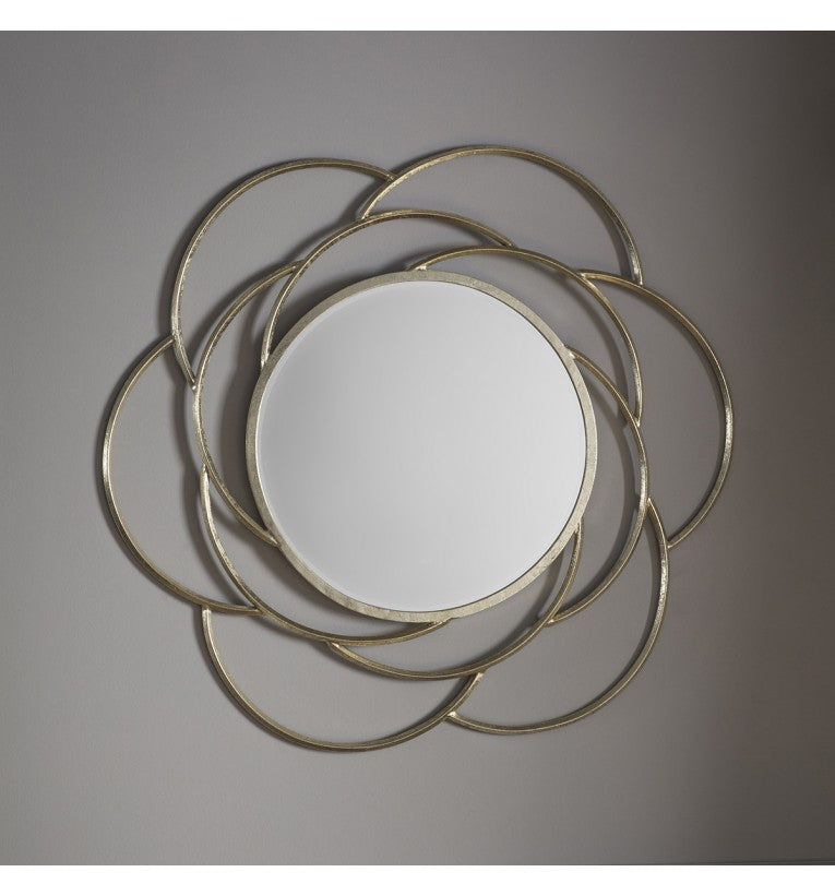Bloomsbury Gold Frame Round Wall Mirror