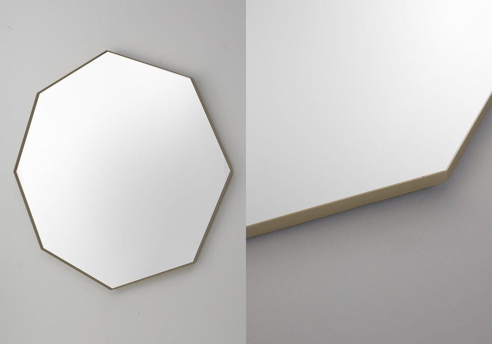Bowie Octagonal Champagne Wall Mirror
