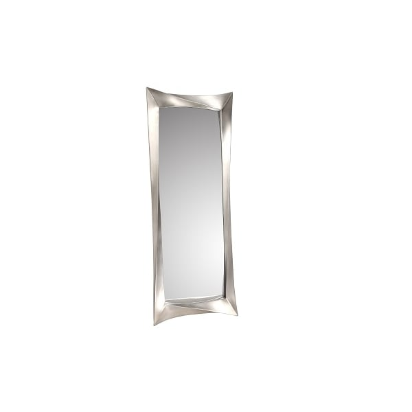 Modern Ceret Silver Leaf Long Wall Mirror