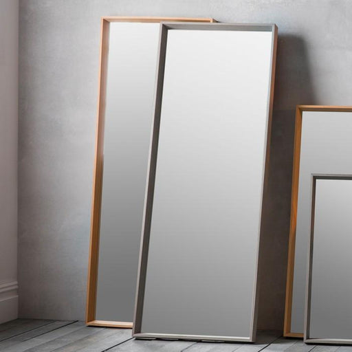 Comet Leaner Modern Wood Frame Grey Mirror-Full Length Mirror-Chic Concept