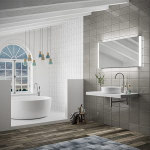 Connect LED Rectangular Bathroom Wall Mirror - 60 cm x 120 cm