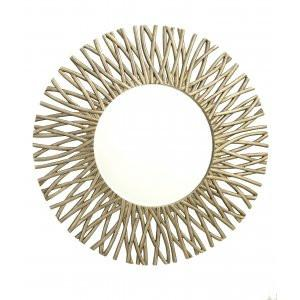 Corran Antique Brass Wall Mirror-Round Mirror-Chic Concept