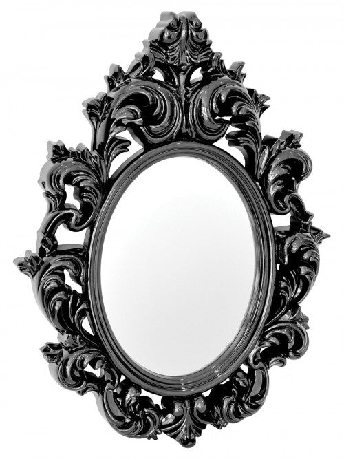 Catherine Black Ornate Style Wall Mirror