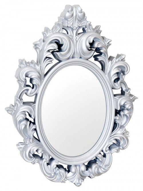 Catherine Silver Ornate Style Wall Mirror