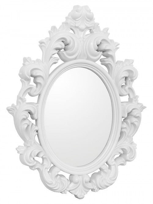 Catherine White Ornate Style Wall Mirror