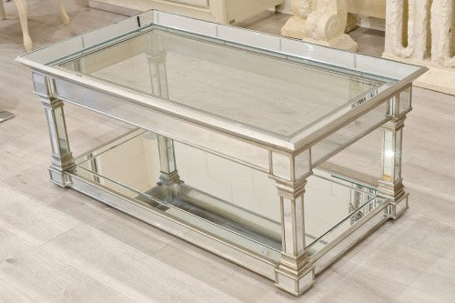 Antique Silver Mirrored Coffee Table