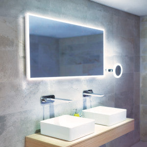 Globe LED Rectangular Bathroom Wall Mirror - 60 cm x 120 cm