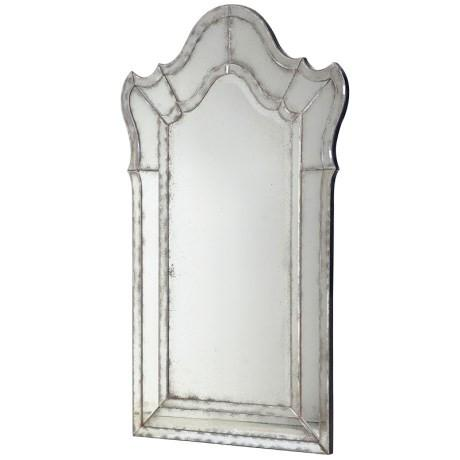 Shaped Venetian Antiqued Mirror-Decorative Mirror-Chic Concept