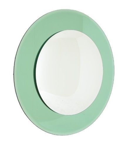 Luna Green Convex Wall Mirror