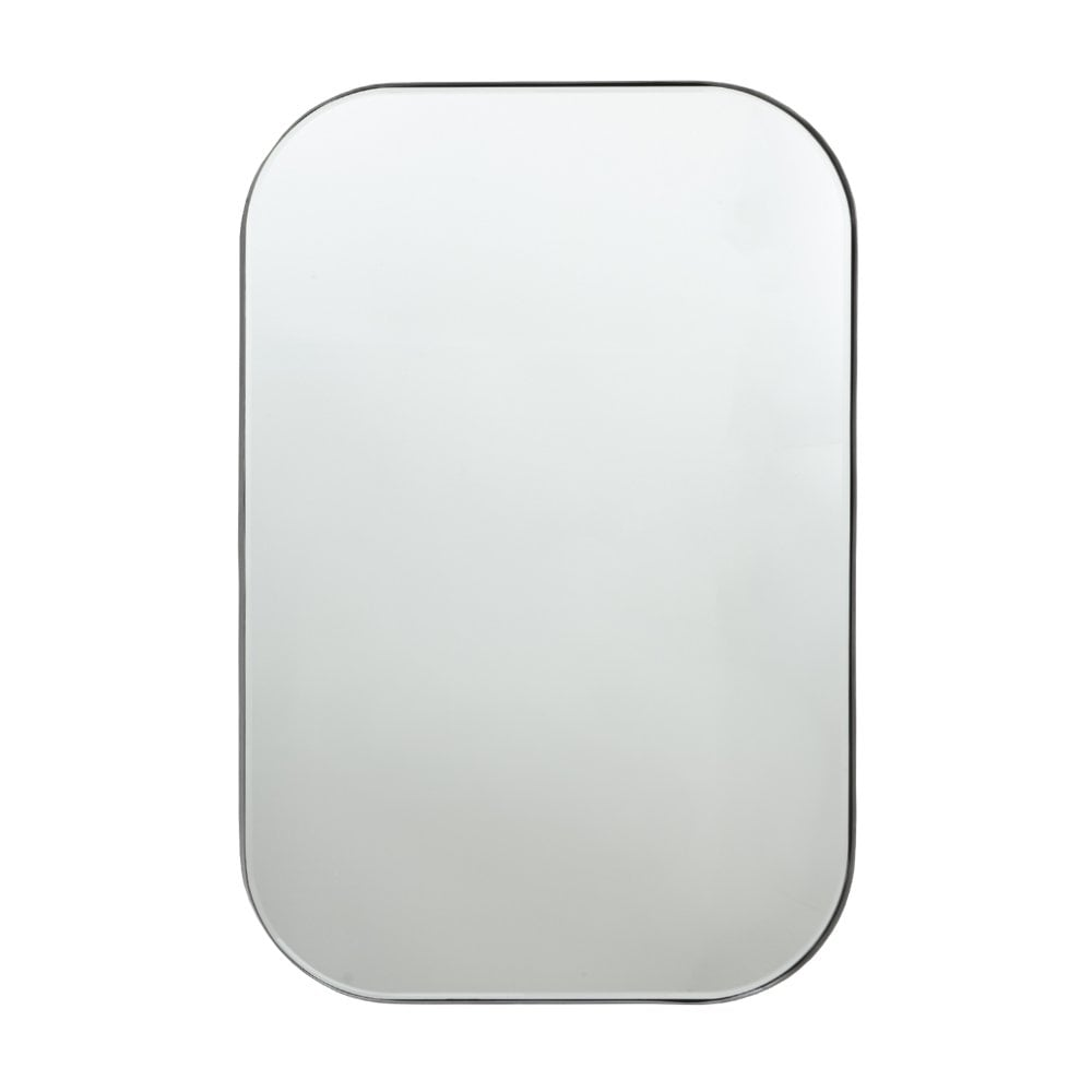 Modern Katell Pewter Rectangular Wall Mirror - 91 cm x 60 cm