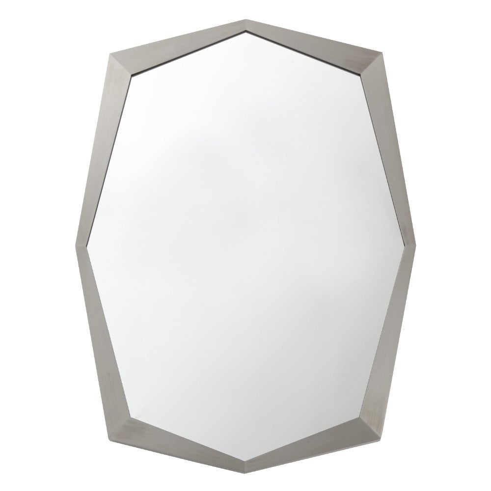 Paolo Octagon Stainless Steel Silver Wall Mirror
