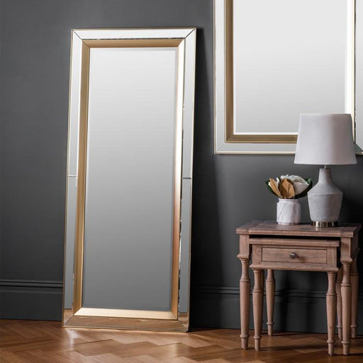 Phantom Leaner Modern Gold Mirror-Full Length Mirror-Chic Concept