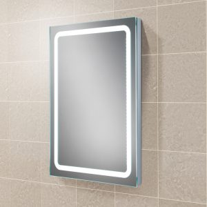 Scarlet LED Rectangular Bathroom Wall Mirror - 80 cm x 60 cm