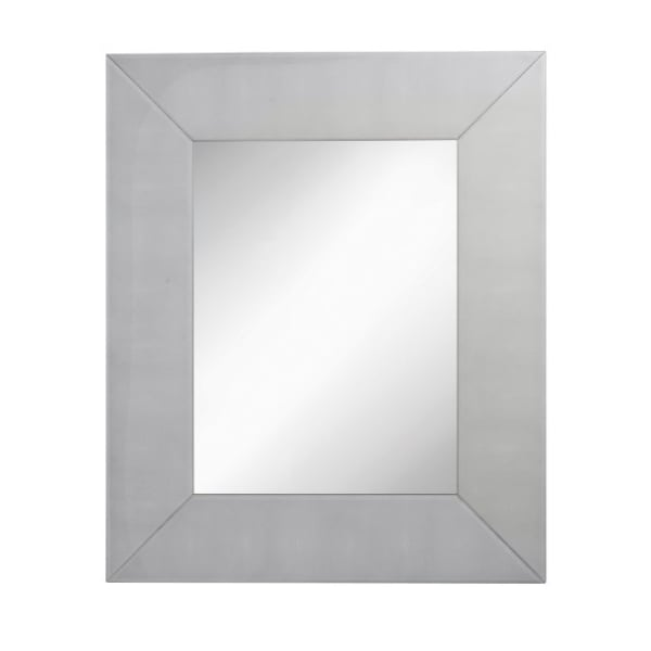 Grey Shagreen Rectangular Wall Mirror