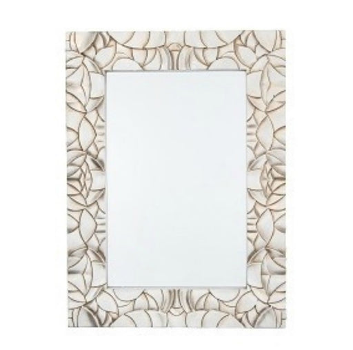 Silver Shell Design Rectangular Wall Mirror