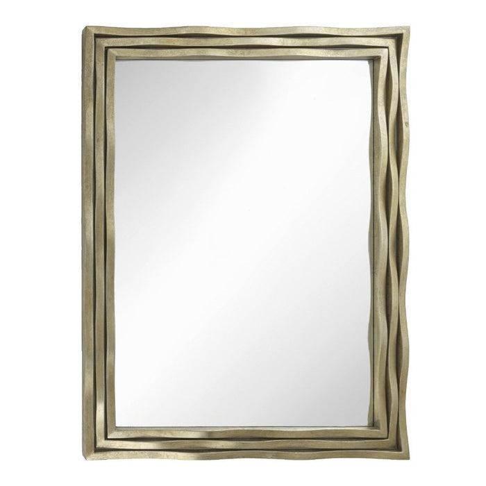 Simona Distress Gold Rectangular Wall Mirror