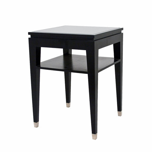 Black Glass Sofa Side/Lamp Table