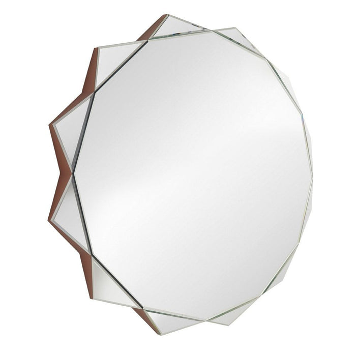 Sol Art Deco Angled Wall Mirror