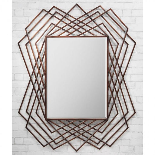 Specter Geometric Frame Copper Feature Mirror-Art Deco Mirror-Chic Concept