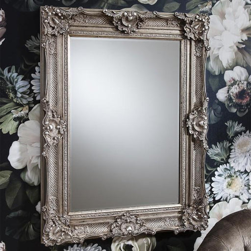 Stretton Traditional Antique Silver Wall Mirror-Wall Mirror-Chic Concept