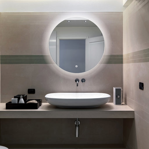 Theme LED Round Bathroom Wall Mirror - 80 cm