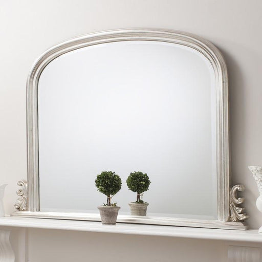 Thornby Contemporary Overmantle Wall Mirror Silver-Overmantle Mirror-Chic Concept