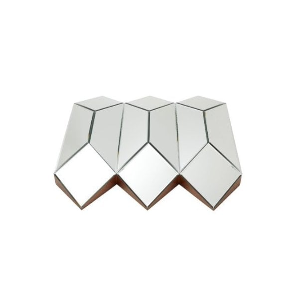 Origami Three Dimensional Wall Mirror