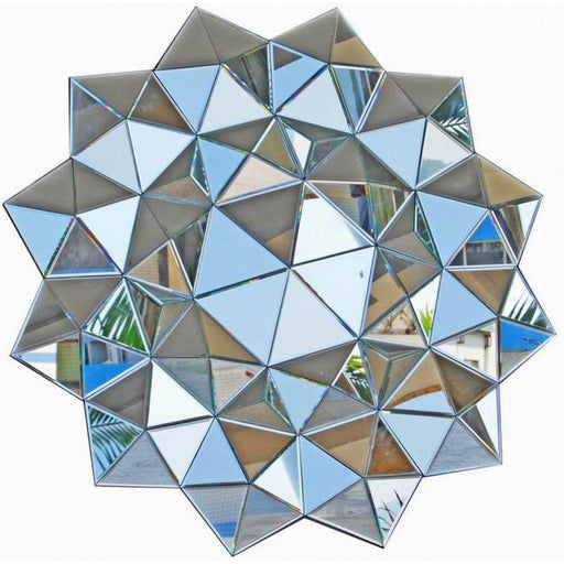 Contemporary Venetian Etoile Prism Multifaceted Decorative Wall Mirror-Multi Facet Mirror-Chic Concept