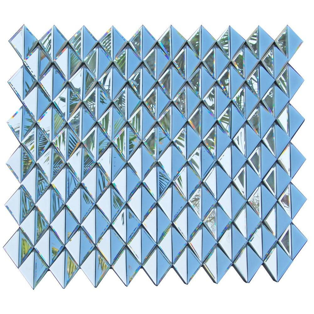 Contemporary Venetian Multifaceted Diamond Decorative Wall Mirror-Multi Facet Mirror-Chic Concept