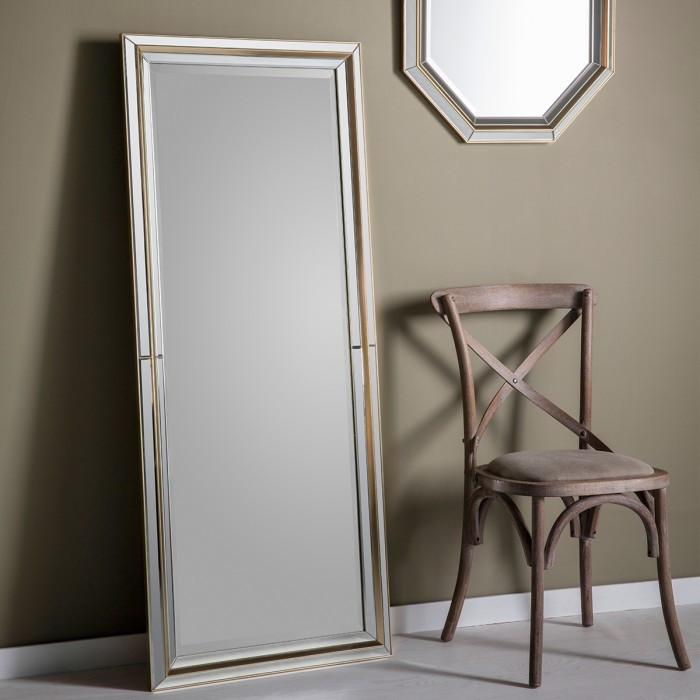 Vogue Leaner Modern Gold Mirror-Full Length Mirror-Chic Concept