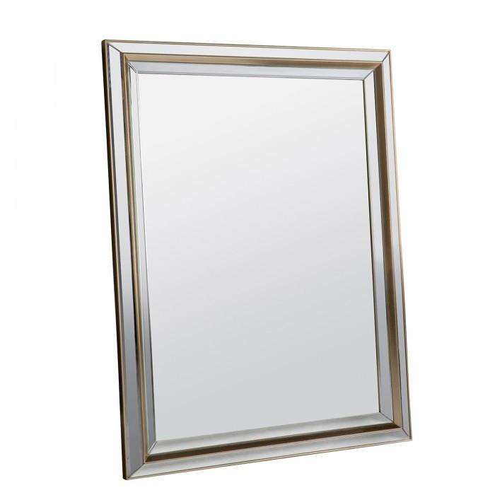 Vogue Modern Rectangle Gold Wall Mirror-Rectangle Mirror-Chic Concept