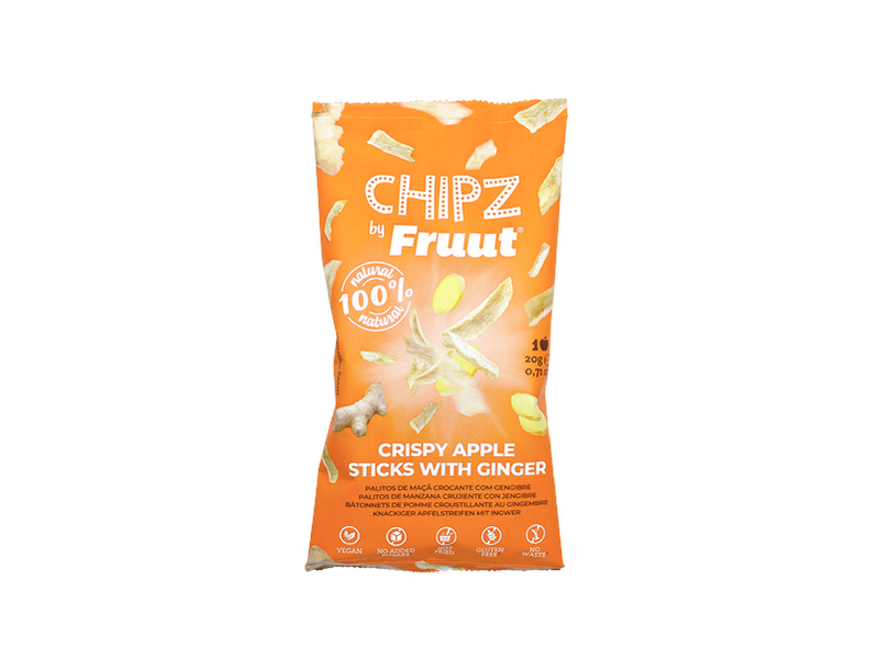 fruut, crispy, chipz, healthy, snack, ginger, gengibre, apple, maçã