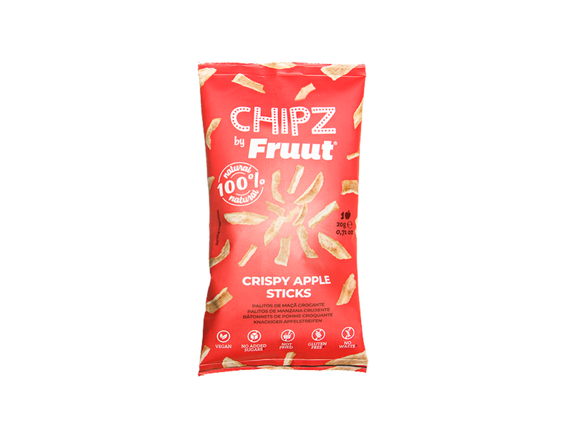 fruut, crispy, chipz, healthy, snack, apple, red apple
