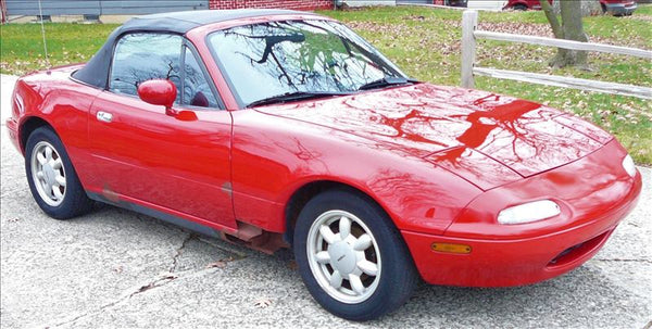 1990-1997 Mazda Miata Passenger Side Door (Red) SU