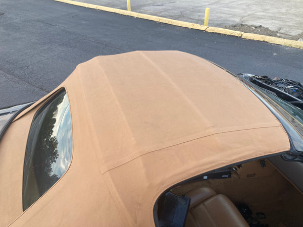 1990-2005 Mazda Miata Soft Top (Tan) Robbins Vinyl with glass defrost on frame