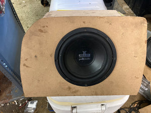 "1990-2005 Mazda Miata Driver Side Trunk Mount Subwoofer Enclosure with 8"" Polk Audio Subwoofer"