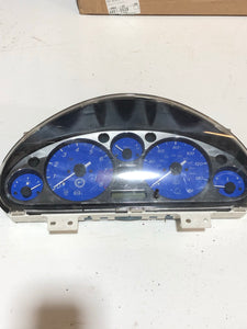 1999-2000 Mazda Miata NB1 Blue / Chrome Gauge Instrument Cluster