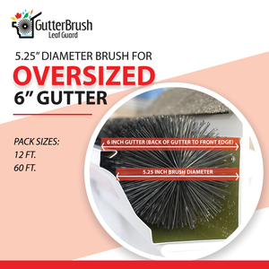 GutterBrush Leaf Guard - 6 inch