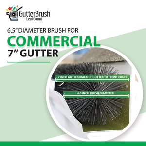 GutterBrush Leaf Guard - 7 inch
